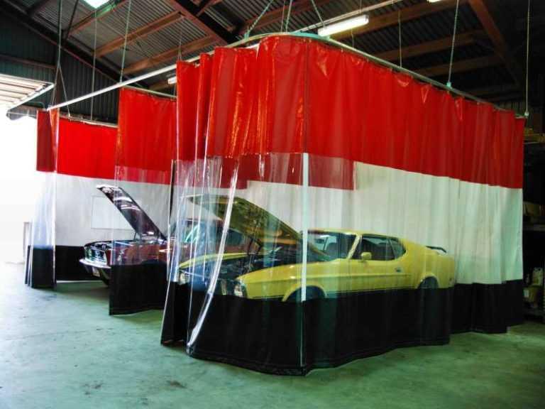 штора ПВХ для автомойки
