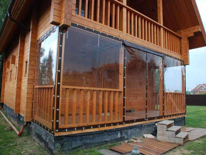 Гибкие шторы для террасы