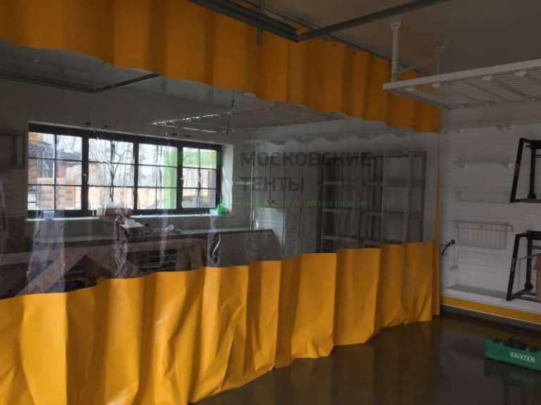 Разделение шторой ПВХ гаражного помещения