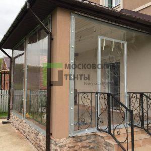 Веранда закрытая мягкими окнами