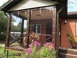 Гибкие окна на веранде, рулонного типа