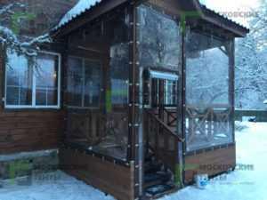 Использование мягких окон зимой