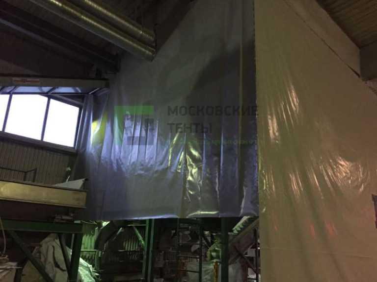 Промышленная штора из ткани ПВХ на тросу